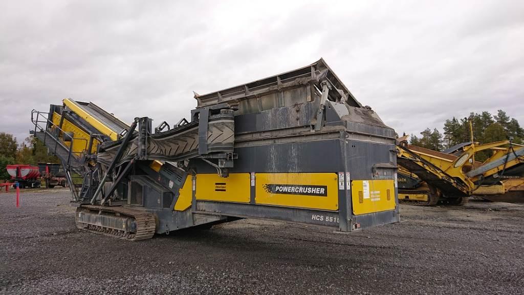 Atlas Copco Powercrusher HCS 5515, Mobila sorteringsverk, Entreprenad