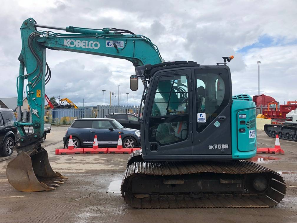 Kobelco SK75-7, Midi excavators  7t - 12t, Construction