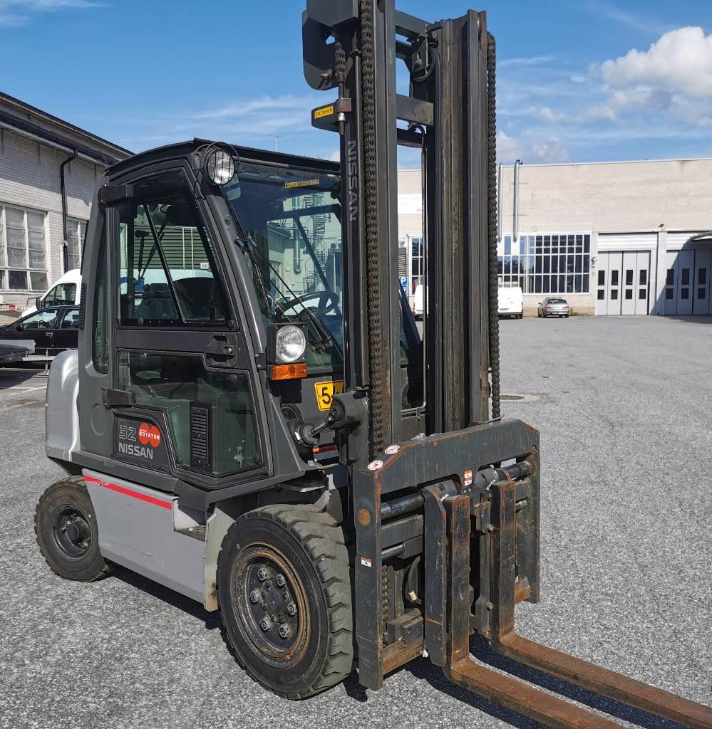 Nissan DQ32Q, Dieseltrukit, Materiaalinkäsittely