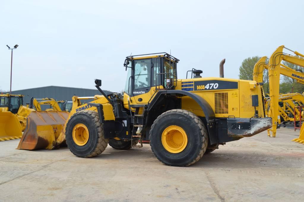 Komatsu WA470-7, Wheel loaders, Construction