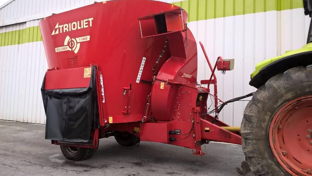 Trioliet Solomix P 1 1400 ZK, Voermengwagens getrokken, Landbouw