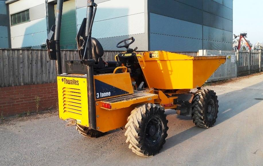 Thwaites 3 ton Swivel, Site dumpers, Construction