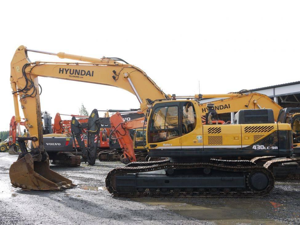 Hyundai R 430 LC-9A, Telakaivukoneet, Maarakennus