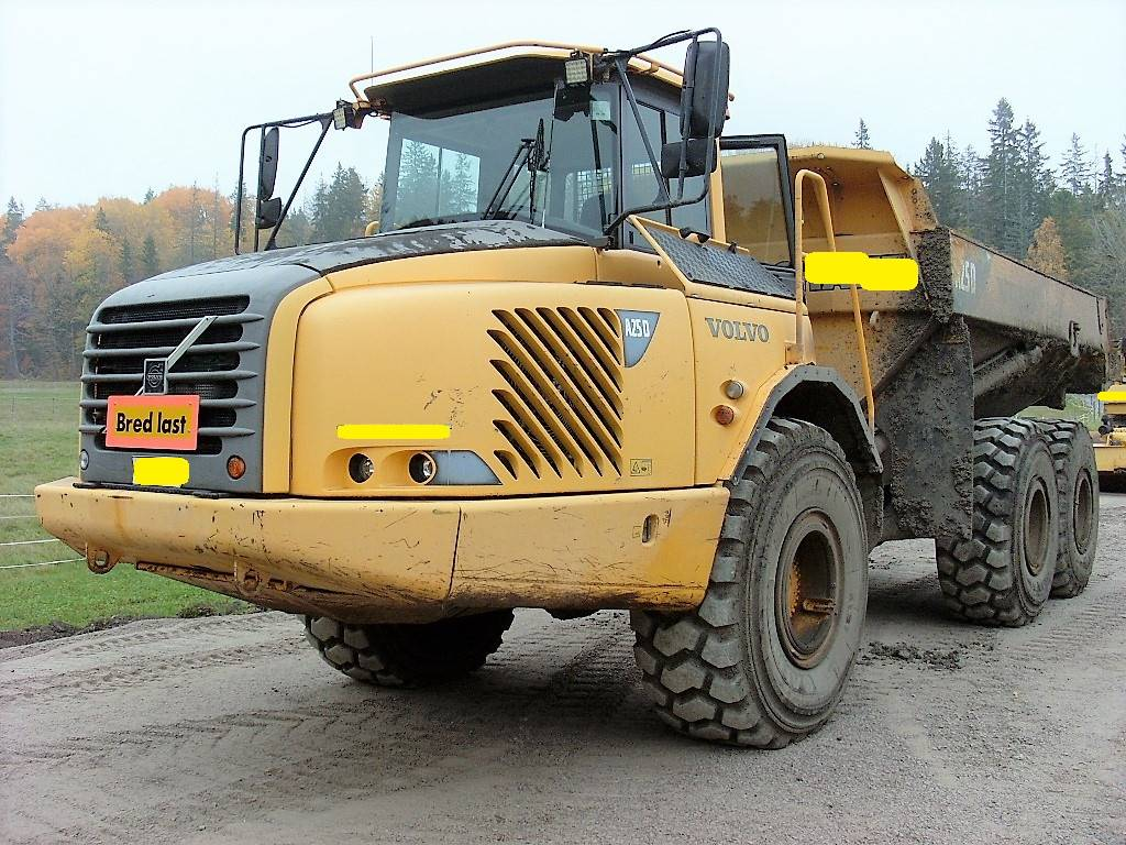 Volvo A25D, Midjestyrd dumper, Entreprenad
