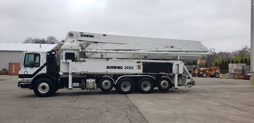 Schwing 39M, Boom Pumps, Construction Equipment