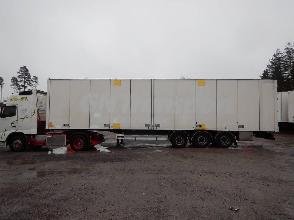 Ekeri DKY-643 KAPELLIKATTOPUOLIPERÄVAUNU, Box body semi-trailers, Transportation