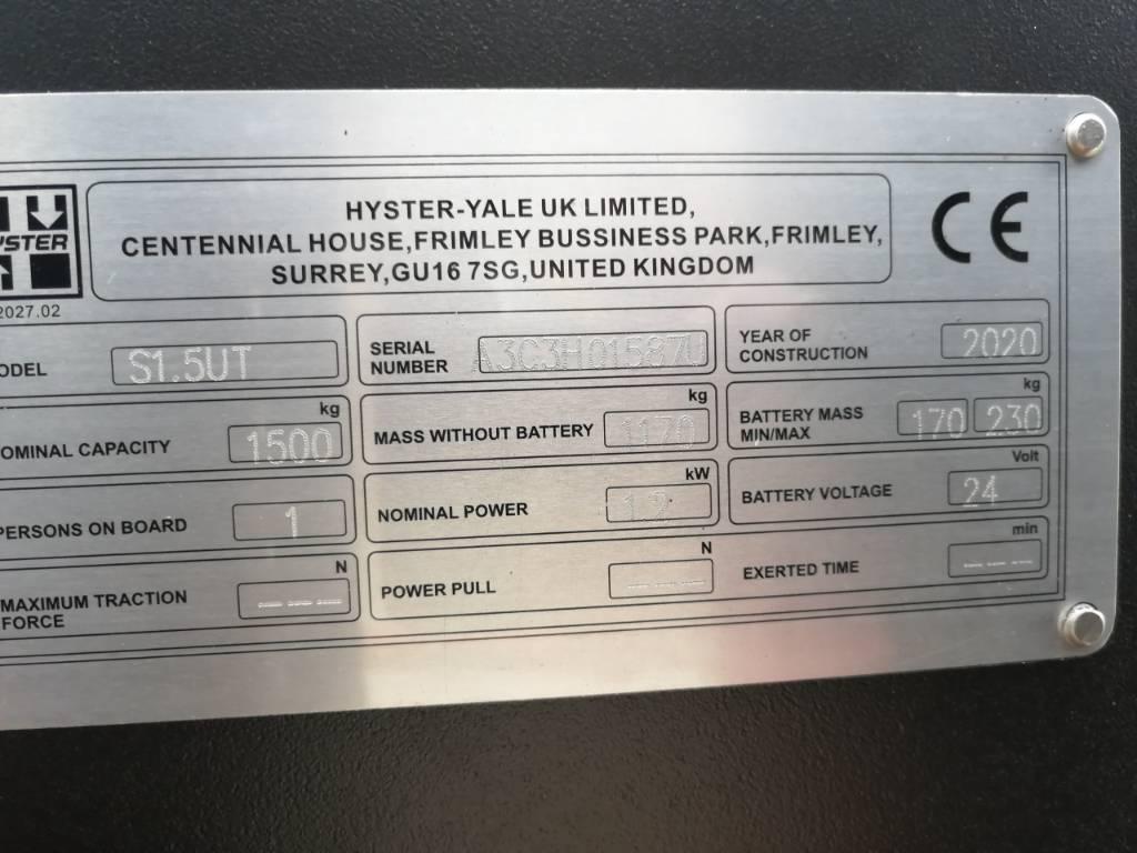 Hyster S1.5UT, Manual Pallet Stacker, Material Handling