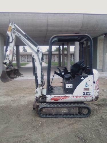 Bobcat 322, Mini digger, Construction Equipment