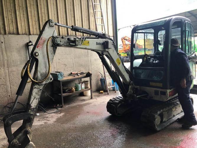 Bobcat 323, Mini digger, Construction Equipment