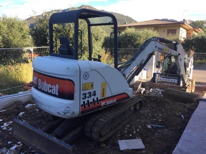 Bobcat 334, Mini digger, Construction Equipment