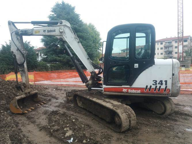 Bobcat 341, Mini digger, Construction Equipment