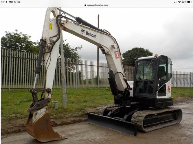Bobcat E80, Mini excavators  7t - 12t, Construction Equipment