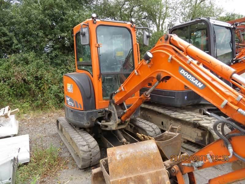 Doosan DX27Z, Mini digger, Construction Equipment