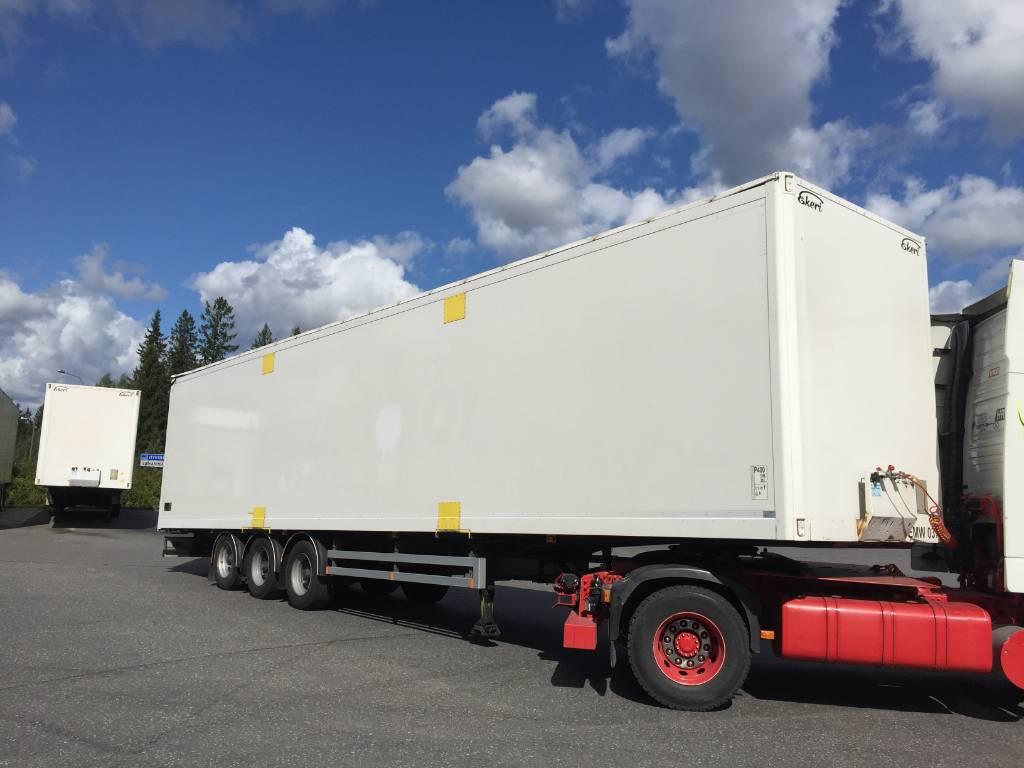 Ekeri Kattoaukaeava kappaletavara ppv, DJJ-402, Box body semi-trailers, Transportation