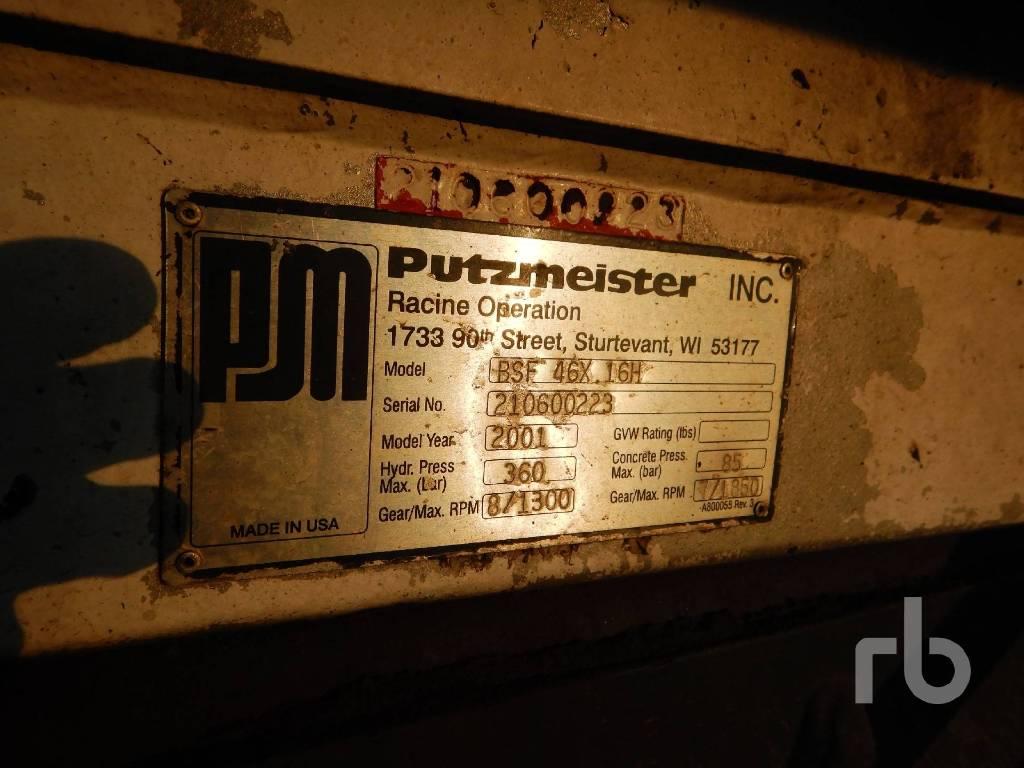 Putzmeister BSF 46.16H, Boom Pumps, Construction Equipment