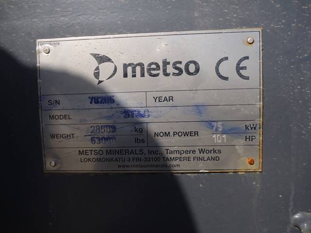 Metso ST3.8, Screens, Construction