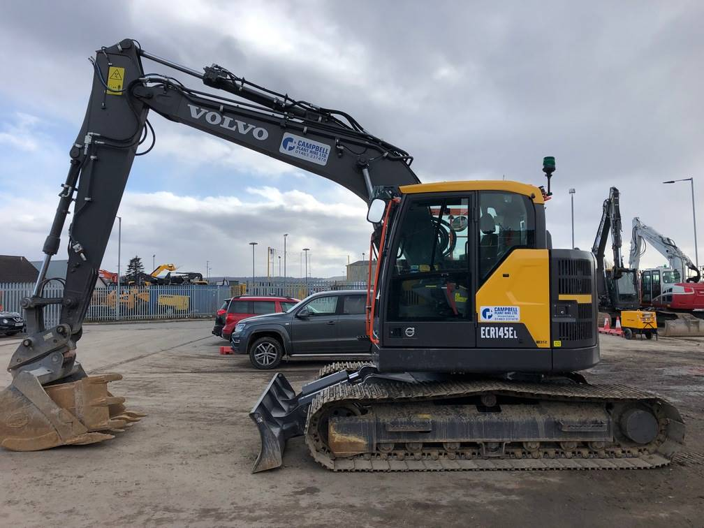 Volvo ECR145E, Crawler excavators, Construction