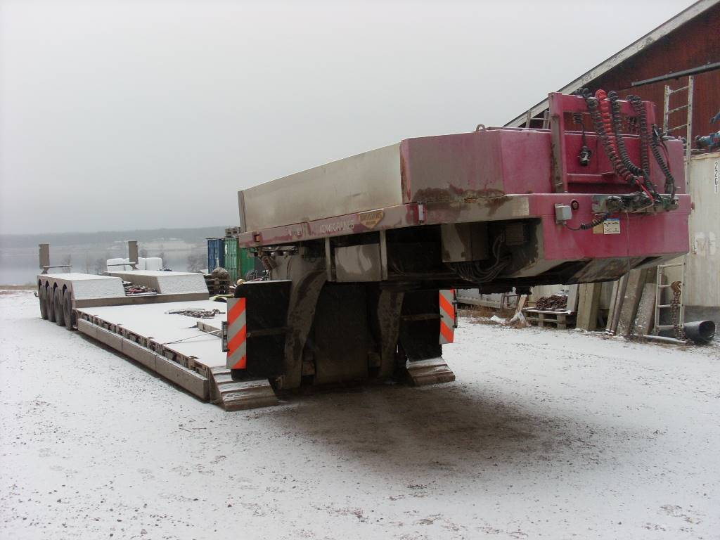 Broshuis BROSHUIS 4ABD-58, Låg lastande semi trailer, Transportfordon