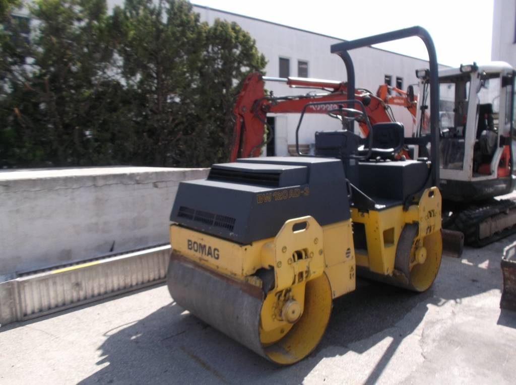 Bomag BW 120, Twin drum rollers, Construction Equipment