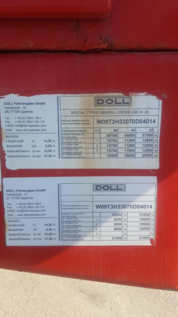 Doll 3 akselinen erikoiskuljetus puoliperävaunu, Puoliperävaunulavetit, Kuljetuskalusto
