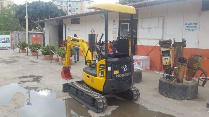 Komatsu PC16MR-2, Mini excavators, Construction Equipment