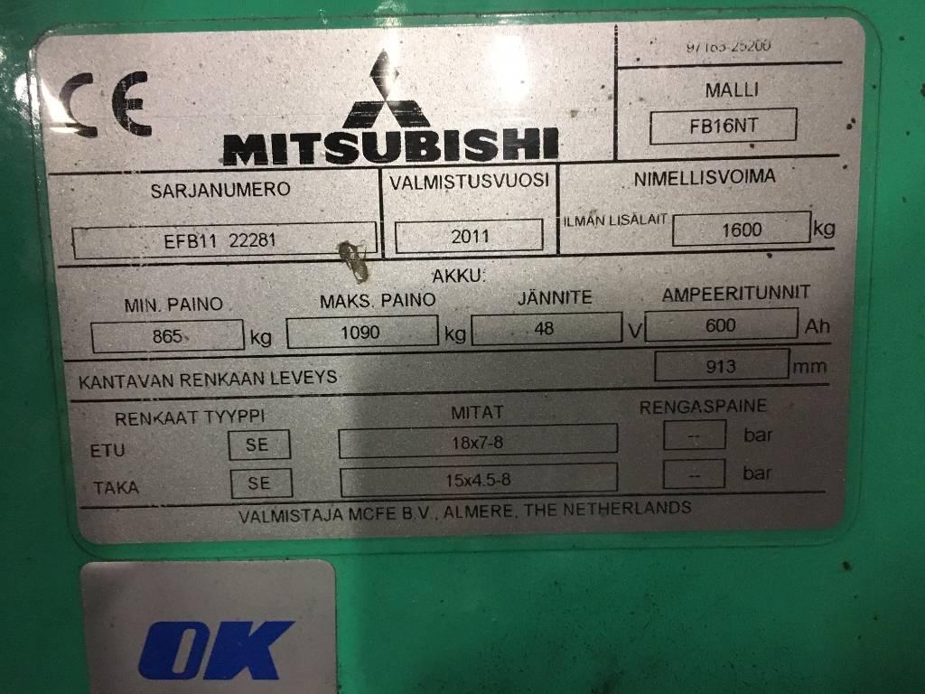 Mitsubishi FB16NT, Sähkötrukit, Materiaalinkäsittely