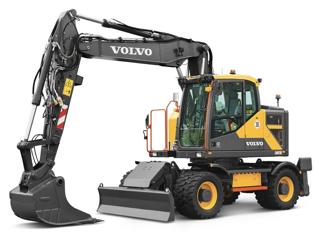 Volvo EWR170E, Wheeled Excavators, Construction Equipment