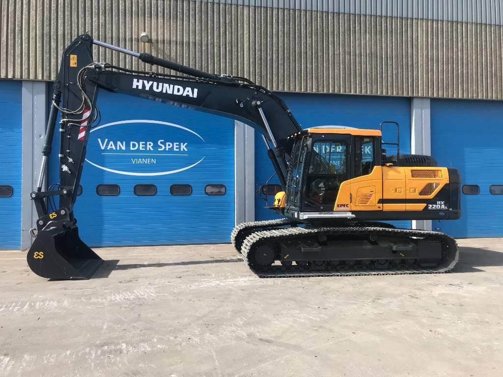 Hyundai HX220AL, Rupsgraafmachines, Bouw
