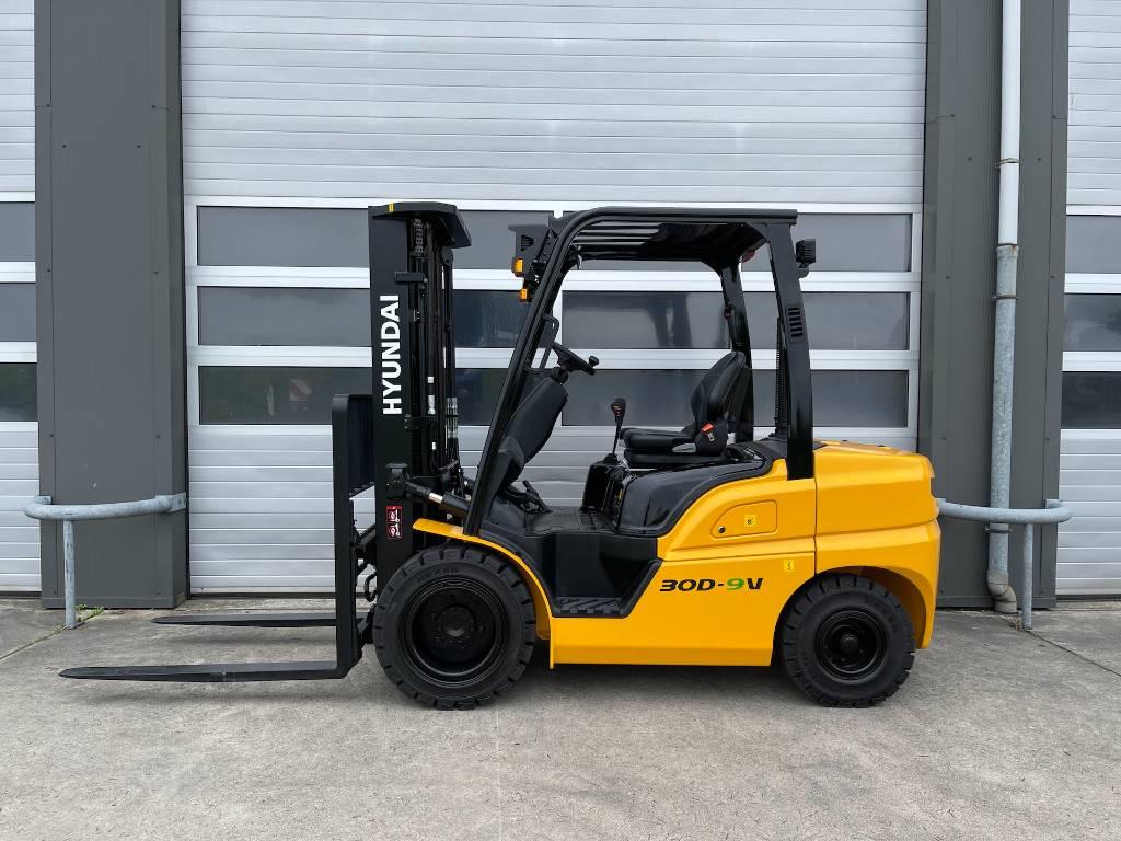 Hyundai 30D-9V 3 ton diesel heftruck 3000kg nieuw vorkheftruck, Diesel heftrucks, Laden en lossen