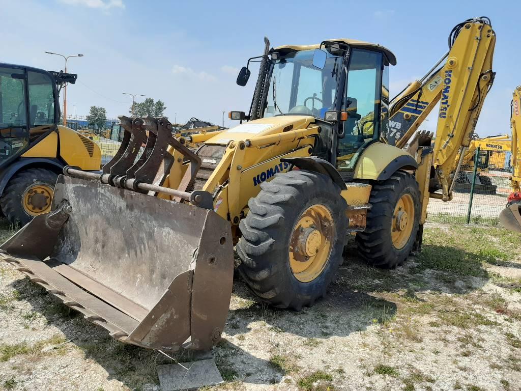Komatsu WB97S-2, Backhoe Loaders, Construction Equipment