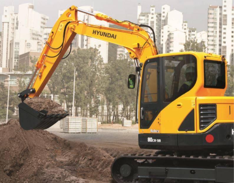 Hyundai R60CR-9A, Mini excavators < 7t (Mini diggers), Construction