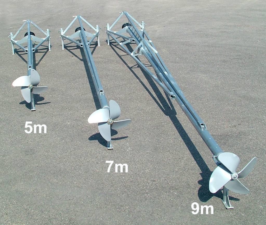 Hill Gjødselmiksere 5 - 7 og 9m, Pumper og røreverk, Landbruk