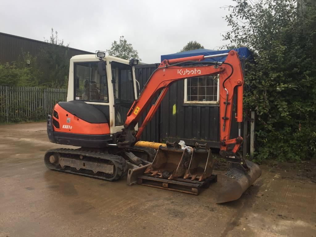 Kubota KX61-3, Mini excavators < 7t (Mini diggers), Construction