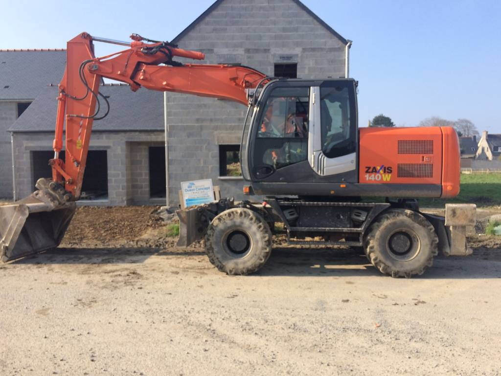 Hitachi ZX 140 W-3, Wheeled Excavators, Construction Equipment
