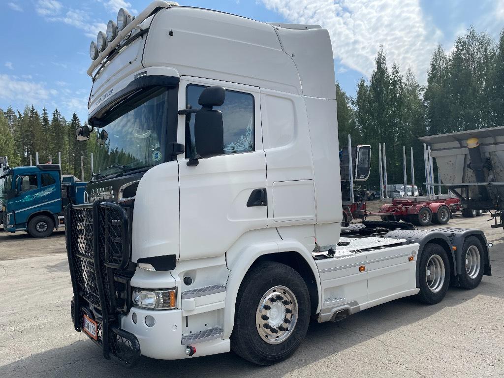 Scania R580 Topline hydrauliikalla, Vetopöytäautot, Kuljetuskalusto