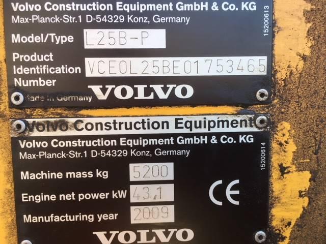 Volvo L25 B, Pyöräkuormaajat, Maarakennus
