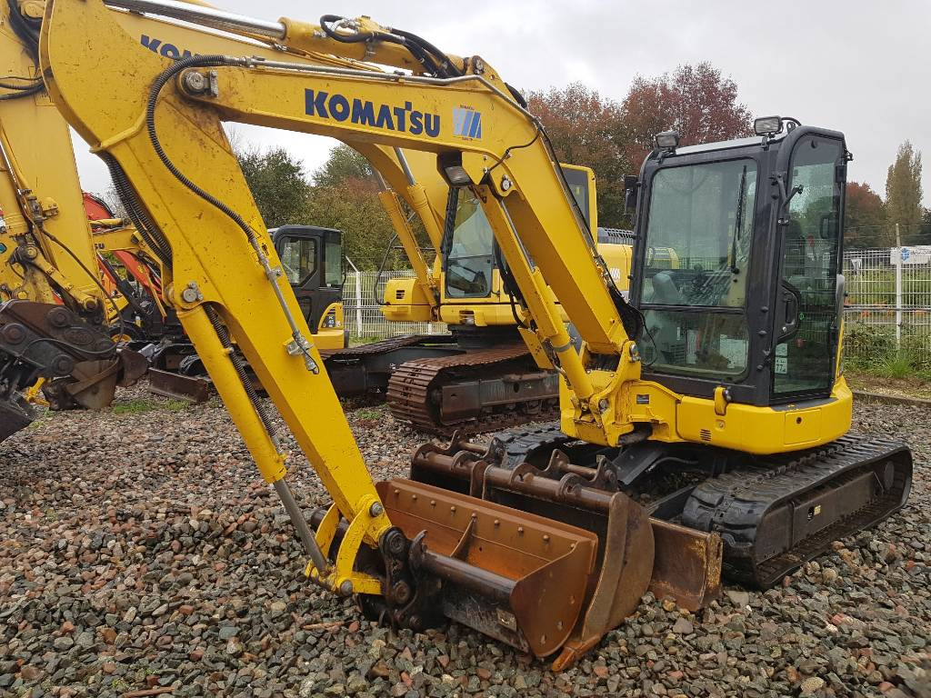 Komatsu PC55MR-5, Mini excavators, Construction