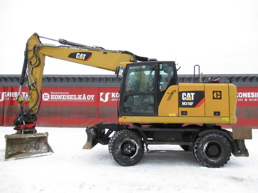 Caterpillar M316F PYÖRITTÄJÄ, RASVARI, YM, Pyöräkaivukoneet, Maarakennus