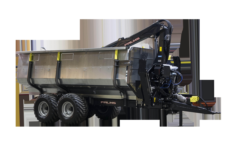 Palms 13 ton, 8m kran, 4WD, Risplåtar, Superpris!, Övriga vagnar, Lantbruk