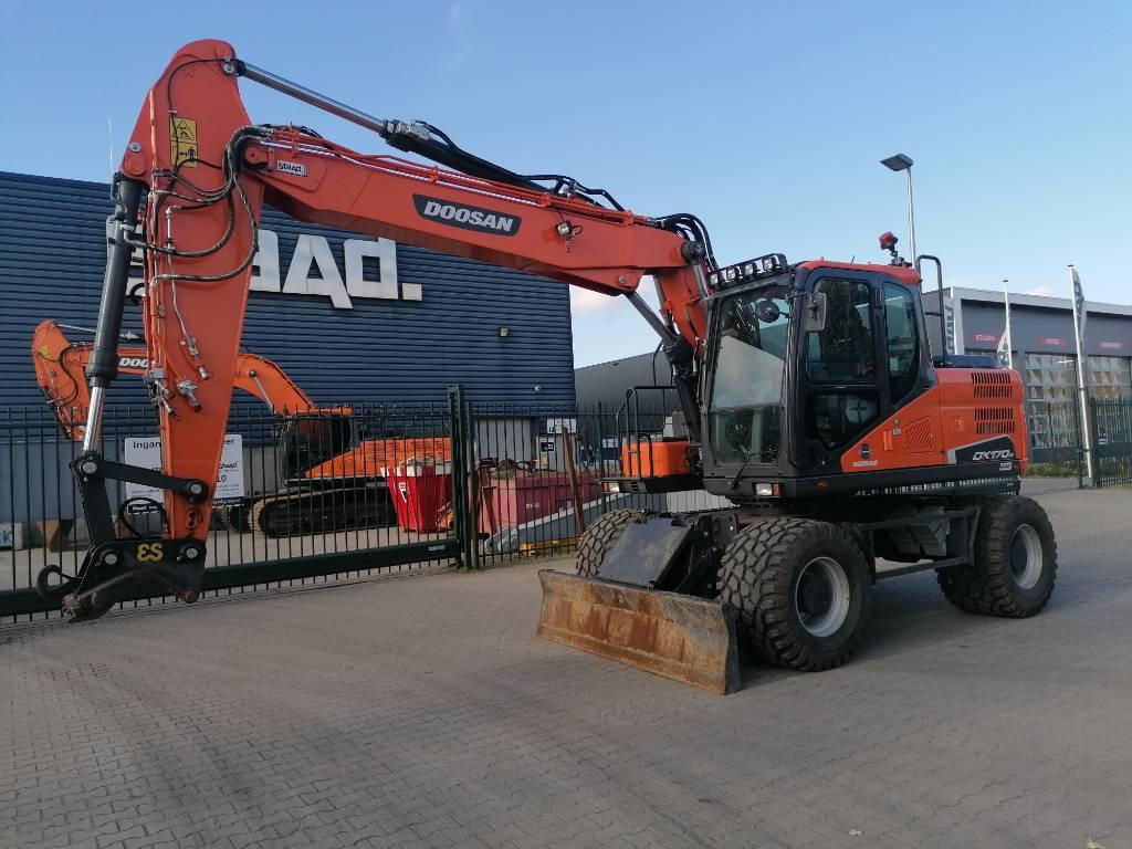 Doosan DX170W-5, Wheeled Excavators, Construction Equipment