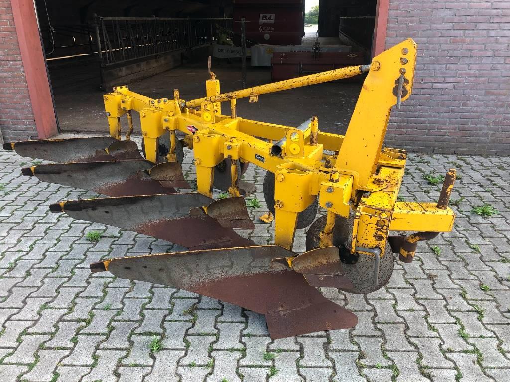 Rumptstad P 340 4-schaar ploeg, Plows, Agriculture