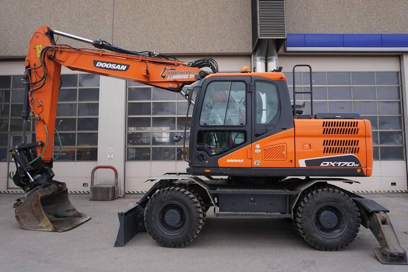 Doosan DX170W, Wheeled Excavators, Construction Equipment