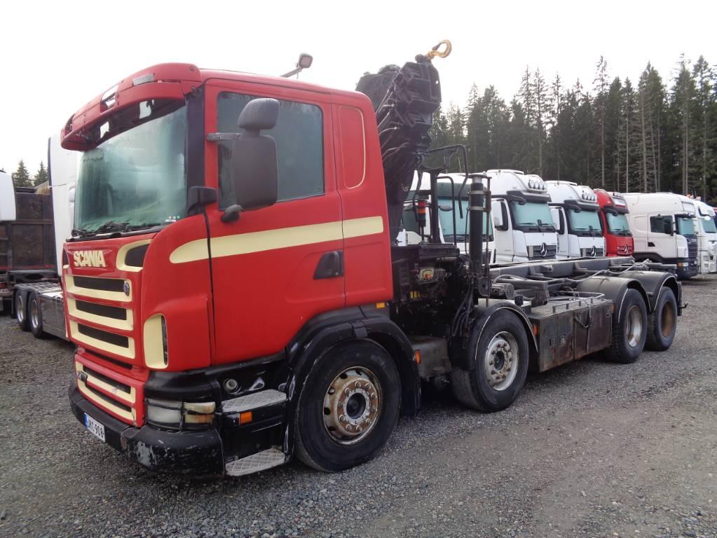 Scania R 420 LB 8x2, Nosturiautot, Kuljetuskalusto