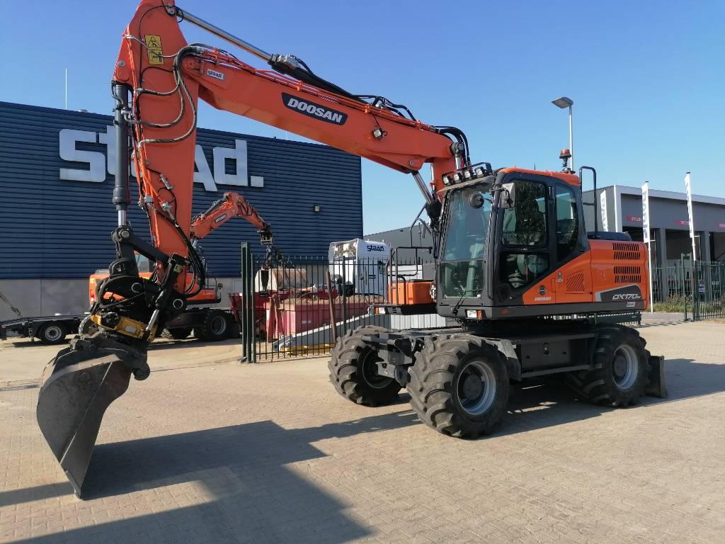 Doosan DX170W-5 Mobiele graafmachine, Wheeled Excavators, Construction Equipment