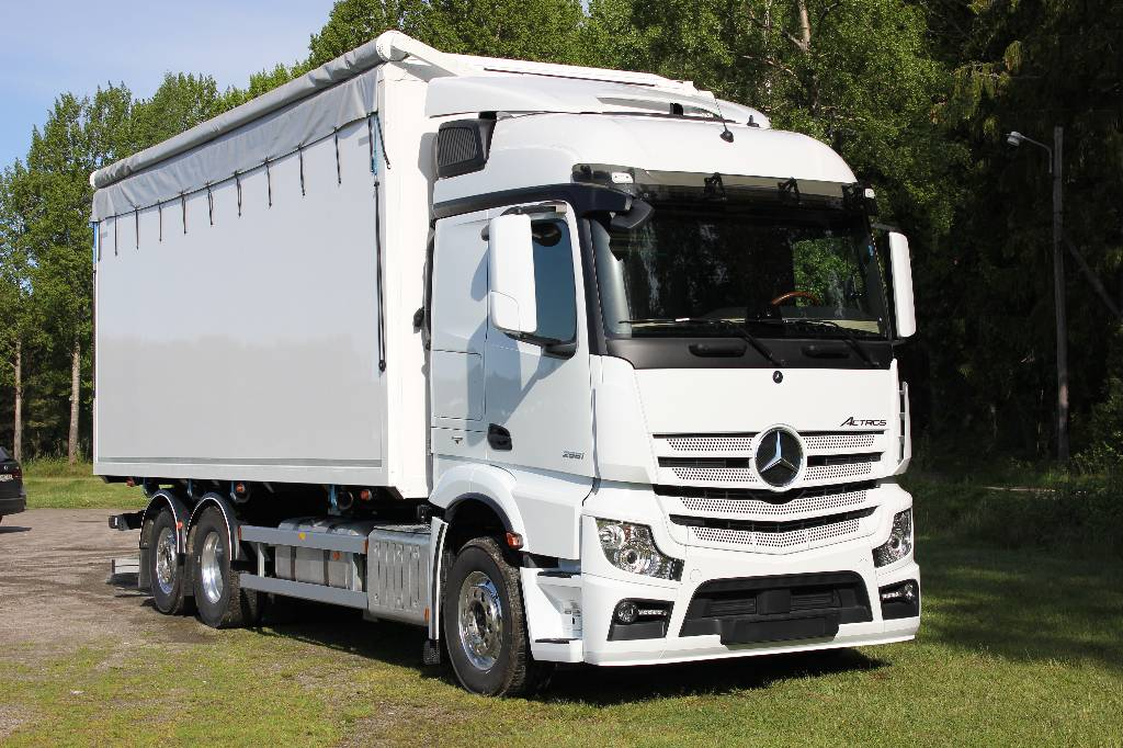 Used mercedes benz actros 2551 l 6x2 flisbil wood chip for Mercedes benz truck 2017 price