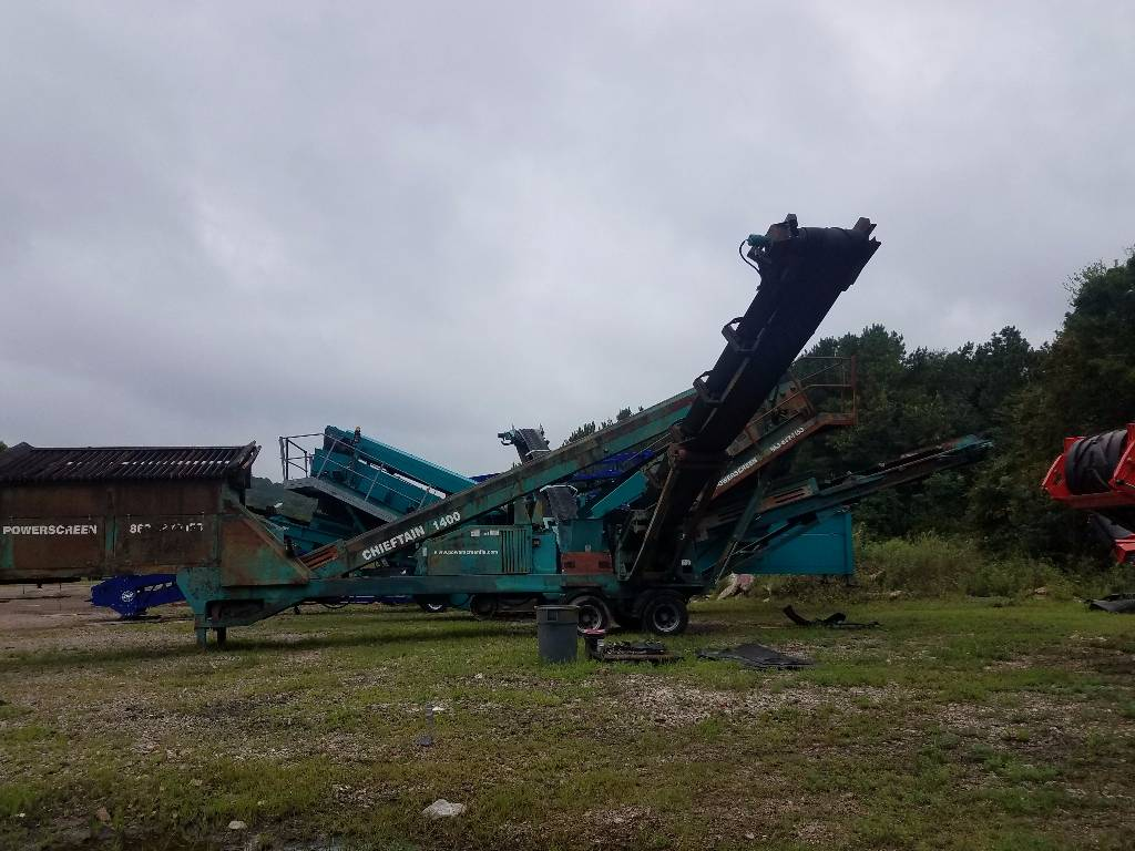 PowerScreen Chieftan, Screeners, Construction Equipment