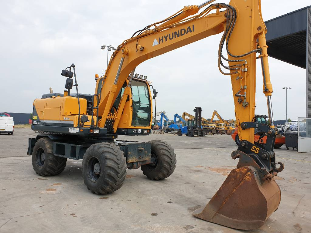 Hyundai Robex 140W-9 A, Wheeled Excavators, Construction Equipment