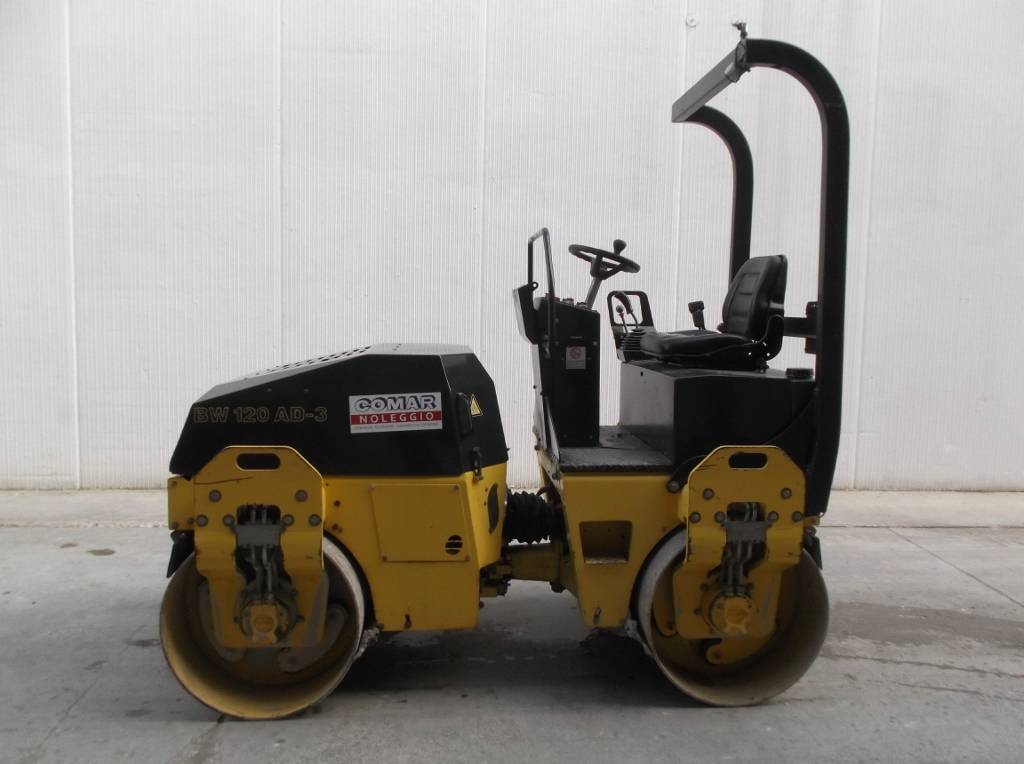 Bomag BW 120 AD-3, Twin drum rollers, Construction Equipment