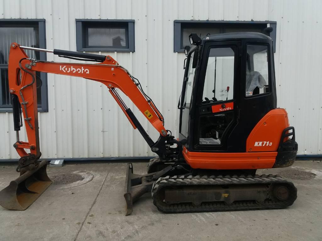 Kubota KX 71-3, Mini excavators, Construction Equipment