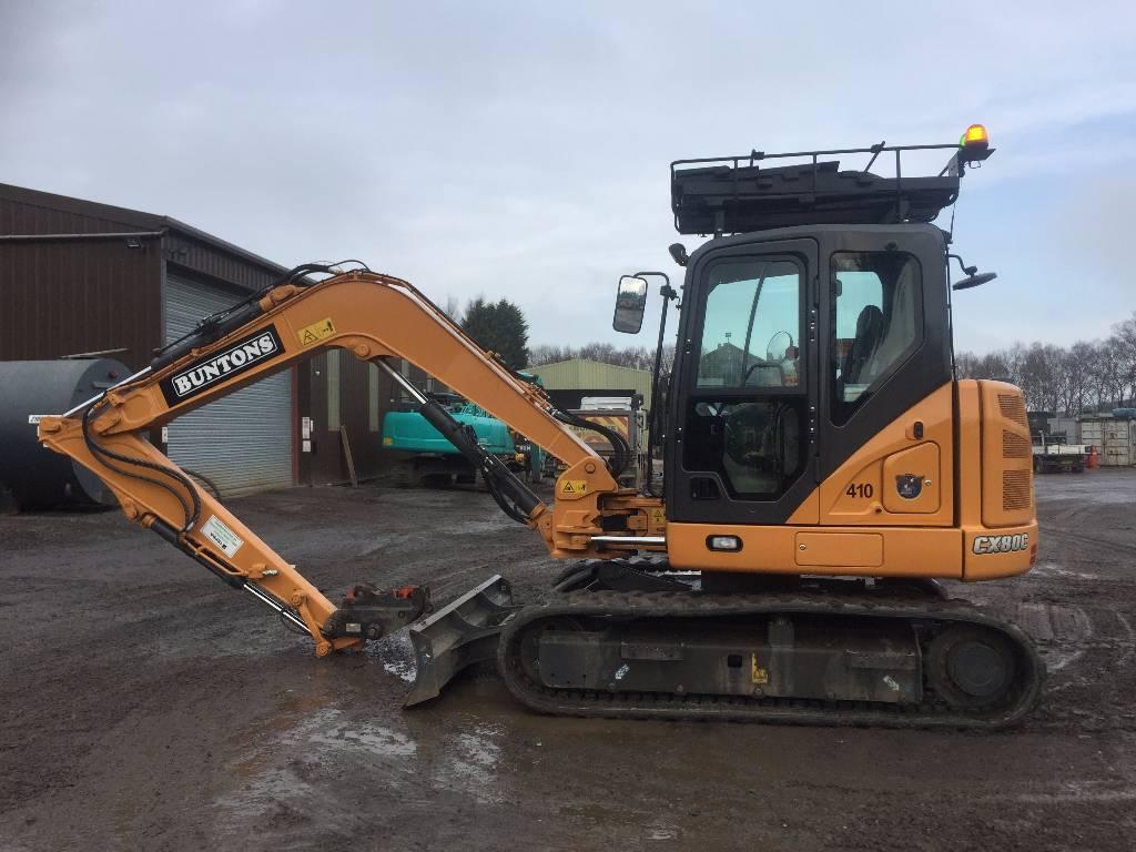 CASE CX 80 C, Crawler excavators, Construction